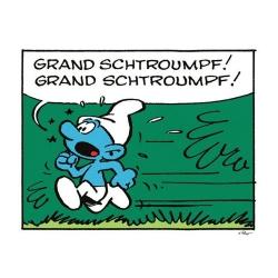 Poster affiche Les Schtroumpfs, Schtroumpf en panique (70x50cm)