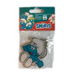 Collectible Keychain Figure Puppy The Smurfs (Happy Smurf)
