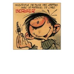 Poster affiche offset Gaston Lagaffe Matériel de chez Berger, Franquin (50x70cm)