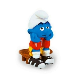 The Smurfs Schleich® Figure - Football Smurf on Bench (20526)
