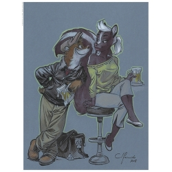 Poster affiche offset Blacksad Juanjo Guarnido, Weekly au bar (30x40cm)