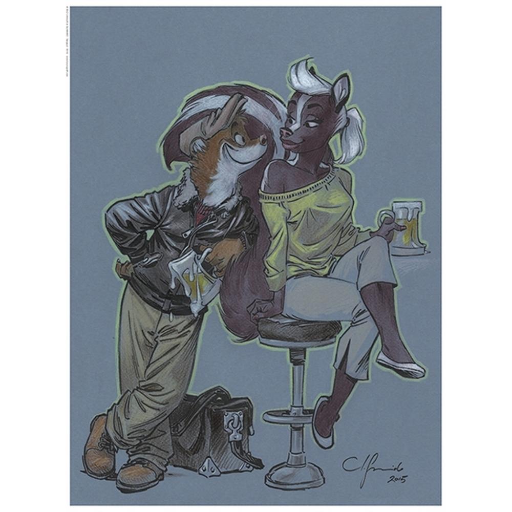 Guarnido Blacksad Blacksad /& Weekly Print 100x50cm