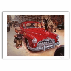 Póster cartel offset Blacksad Juanjo Guarnido, Weekly y Buick firmado (70x50cm)