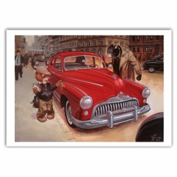 Póster cartel offset Blacksad Juanjo Guarnido, Weekly y Buick (70x50cm)