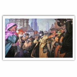 Poster affiche offset Blacksad Juanjo Guarnido, New York (80x60cm)