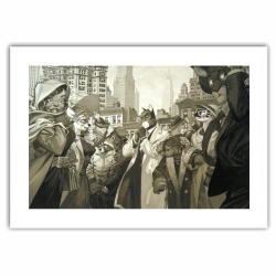 Poster affiche offset Blacksad Juanjo Guarnido, Ten Faces (40x30cm)