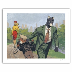 Póster cartel offset Blacksad Juanjo Guarnido, Central Park firmado (50x40cm)