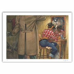 Póster cartel offset Blacksad Juanjo Guarnido, Espejo firmado (50x40cm)