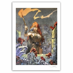 Poster offset Loisel, The Quest For The Time Bird, Pelisse 2 signed (60x80cm)