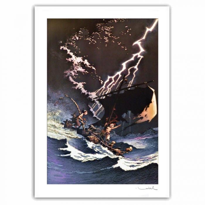 Poster offset Loisel, Peter Pan, Storm signed (60x80cm)