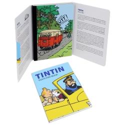 Set de 16 Cartes postales, Tintin et les voitures 31310 (10x15cm)