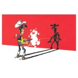 Postal de Lucky Luke: Más rápido que su sombra (15x10cm)