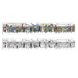 Poster frieze double-faced Moulinsart Tintin Carte de voeux 1972 (180x29cm)