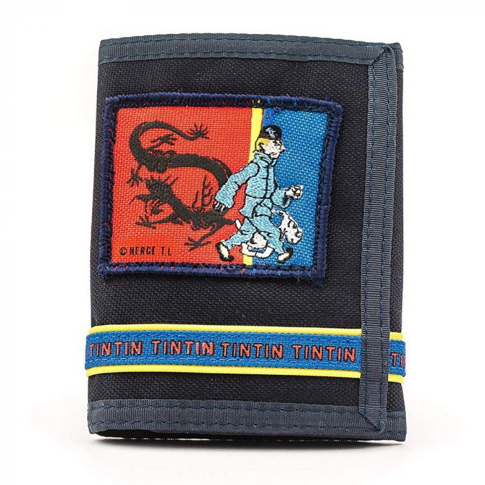 Portefeuille des Aventures de Tintin et Milou, Le Lotus bleu (10,5x13,5cm)