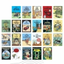 22 Covers Postcards of The Adventures of Tintin (English)