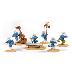 Collectible scene Fariboles with figurines, The Smurfs Orchestra P2 (2019)