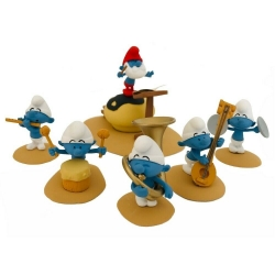 Escena de colección Fariboles con figuritas, Orquesta de Los Pitufos P1 (2019)