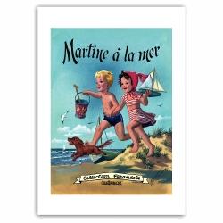 Poster affiche offset Martine à la mer, Marlier (50x70cm)
