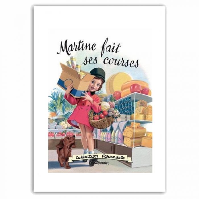 Póster cartel offset Martine fait des courses, Marlier (50x70cm)