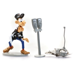 Collectible Figurine Pixi Gaston Lagaffe, Longtarin and sawing robot 6585 (2019)