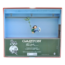 Collectible Figurine Pixi Gaston Lagaffe and the monorail 6586 (2019)