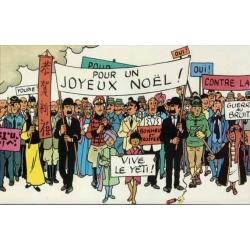 Poster frieze double-faced Moulinsart Tintin Carte de voeux 1972 (180x29cm)