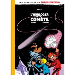Deluxe album Black & White Spirou and Fantasio: L'horloger de la comète (2019)