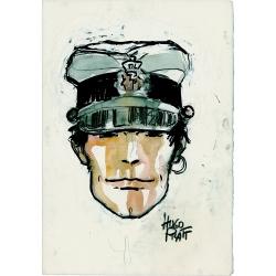 Postcard Corto Maltese, Portrait (12,5x17,5cm)