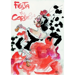 Carte postale Corto Maltese, Fiesta de Córdoba (12,5x17,5cm)