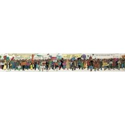 Póster doble cara Moulinsart Tintín Felicitación Carte de voeux 1972 (180x29cm)