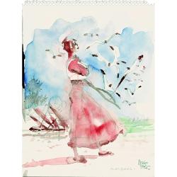 Postal de Corto Maltés, Morgana (12,5x17,5cm)
