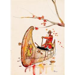 Postcard Corto Maltese, Canoe (12,5x17,5cm)
