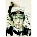 Postcard Corto Maltese, Corto smoking (12,5x17,5cm)