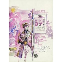 Postal de Corto Maltés, 34 Décembre St Félix (12,5x17,5cm)