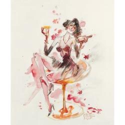Carte postale Corto Maltese, Les plaisirs de la vie (12,5x17,5cm)