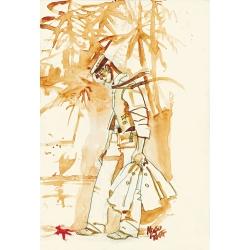 Carte postale Corto Maltese, Pacifique (12,5x17,5cm)