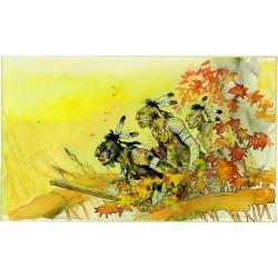 Postcard Corto Maltese, Indians (17,5x12,5cm)