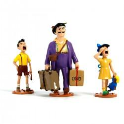 Figurita Pixi / Moulinsart: Tintín Serafín Latón con sus hijos - 46240 (2009)