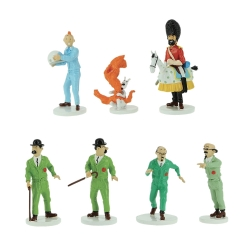Set de mini figurines de collection en plomb Tintin et la Lune 29254 (2019)