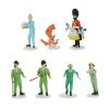 Set de figuritas de colección en plomo Tintín en la luna 29254 (2019)