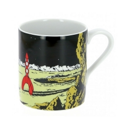 Taza mug de porcelana Tintín, el cohete lunar en la Luna (47987)