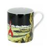 Tasse mug en porcelaine Tintin, la fusée lunaire sur la Lune (47987)