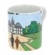 Taza mug porcelana Tintín y Milú con Haddock en castillo de Moulinsart (47985)