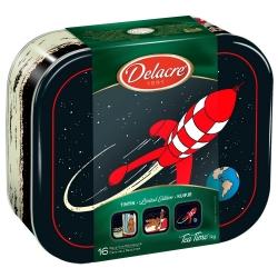 Delacre Tin Biscuit Box Tintin, The Lunar Rocket (1kg)
