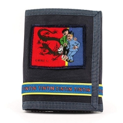 Wallet of the Adventures of Tintin and Snowy with Tchang (10,5x13,5cm)