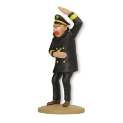 Collectible figurine Tintin, The Captain Chester 14cm + Booklet Nº94 (2015)