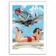 Poster affiche offset Pin-Up Wings Pomme d'Amour, Hugault signée (50x70cm)
