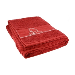 Bath towel Tintin 100% Cotton - Red (150x90cm)