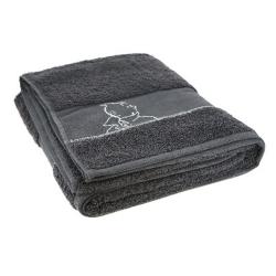 Serviette de bain Tintin 100% Cotton - Gris (150x90cm)