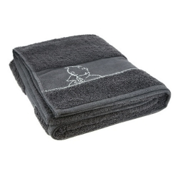 Serviette de bain Tintin 100% Cotton - Gris (130x70cm)